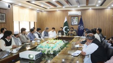 Dengue Control Meeting chaired by the Deputy Commissioner Swat Mr. Shahid Mehmood.