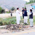 ڈپٹی کمشنر سوات شاہد محمودکاہیڈکواٹر تحصیل بابوزئی میں صفائی ستھرائی ، نکاسی آب صورتحال اور تر قیات