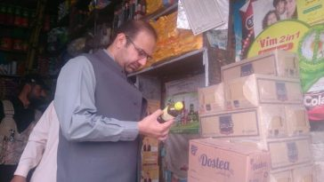 Bazar checking at Sub-Division Barikot by the Assistant Commissioner Barikot, Mr. Shakeel Khan.