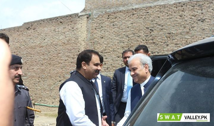 Receiving Prime Minister of Pakistan Justice (Retd) Nasir-ul-Mulk.