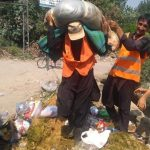 Cleanliness and timely disposal of the carcasses of sacrificial animals is in full swing in all the