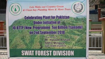 """Plant for Pakistan"" day was celebrated in distt Swat and plantation of 20000 saplings started in th"