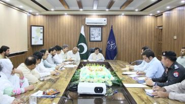 2nd Day-Polio Evening Review Meeting, chaired by the Add: Deputy Commissioner Mr. Muhammad Fawad.