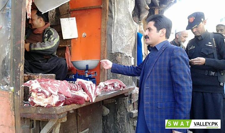 Assistant Commissioner Bahrain surprise visit to Bahrain Bazar. Different edible items checked. Viol