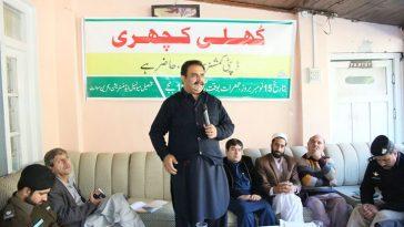 ضلعی انتظامیہ سوات کی جانب سے عوامی مسائل کے حل کے لیے مدین میں کھلی کچہری کا انعقاد۔