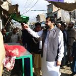 On the direction of DC Swat, Assistant Commissioner Charbagh, Haamid Bunery carried out Bazar Checki