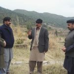 SECRETARY HOUSING KP VISIT TO PROPOSED SITE FOR SWAT HOUSING SOCIETY.