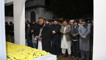 The Janaza prayer of late Abid Mohmand (AC Bahrain) who were martyred last night took place in DC Ho