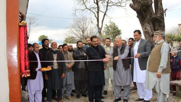 Inauguration of Security Posts and Public W.Rooms in tehsil office Matta, free distribution of plant