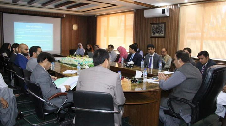 Deputy Commissioner Swat, Saqib Raza Aslam is briefing the participants of 46th Common Training Prog