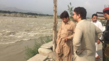 Today due to rising levels in River Swat all hotels and restaurants along by pass road were warned a