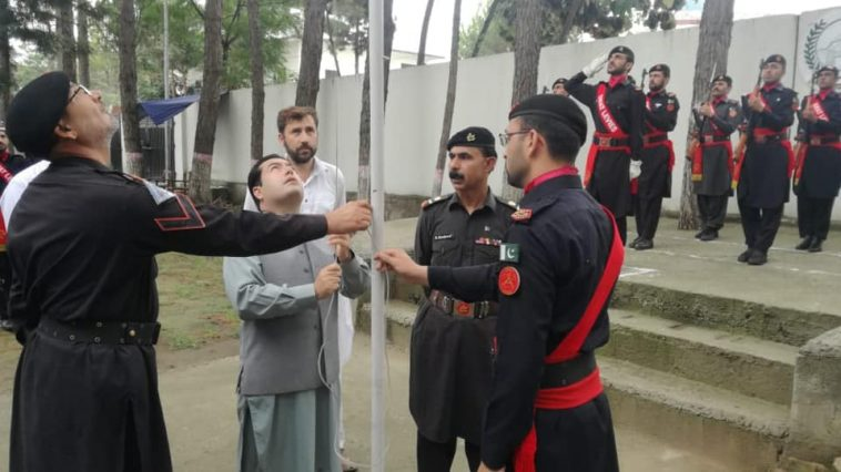 Flag Hoisting Ceremony and Guard of Honour held at the DC Office Swat today on wednesday morning to