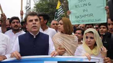 A rally was taken out today at 12:00 PM  regarding solidarity with the people of Kashmir under the l
