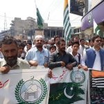 District Administration Swat taken out a rally today to express solidarity with Kashmiris.