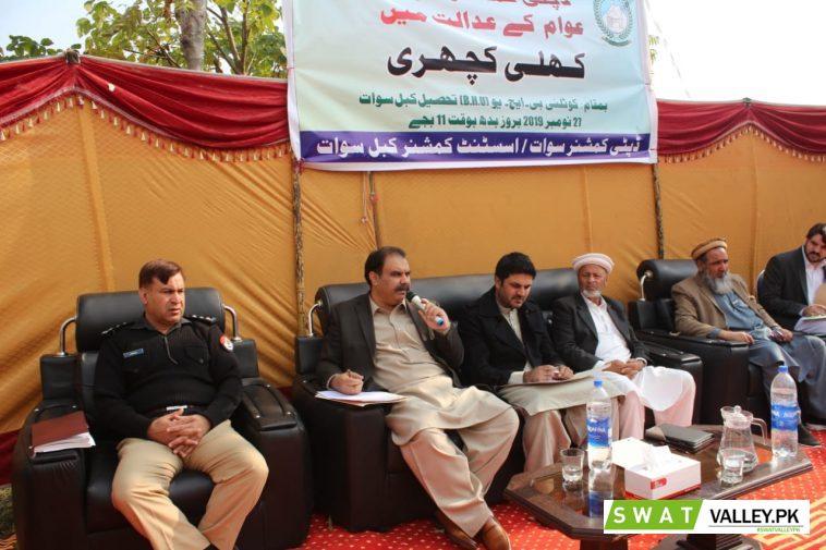عوامی مسائل کے حل کیلئے تحصیل کبل کے علاقہ کوٹلئی میں کھلی کچہری کا انعقاد۔