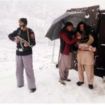 Polio campaign in Swat.Salute to these frontline workers and Swat police.
