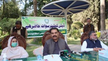 A Khuli Kachehri for women was held today at Shuhada Park, College Colony Saidu Sharif, organized by