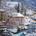 اشو ویلی، کالام، سوات۔۔۔ Exquisite Ushu Village of Kalam Valley in snowy season