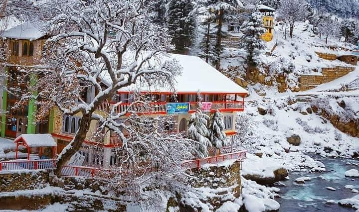 اشو ویلی، کالام، سوات۔۔۔ Exquisite Ushu Village of Kalam Valley in snowy season