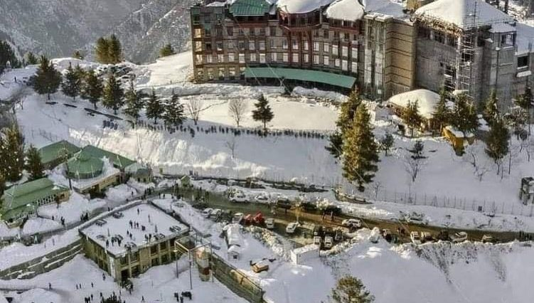 Snowfall  My beautiful country  Malam jabba Pakistan