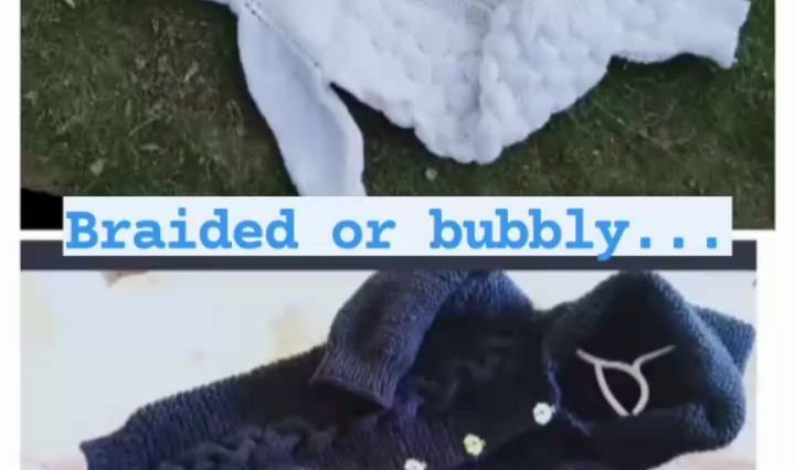Bubbly or braided...