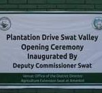 Mungkin gambar teks yang menyatakan 'Plantation Drive Swat Valley Opening Ceremony Inaugurated By Deputy Commissioner Swat Venue: Office of the District Director Agriculture Extension Swat at Amankot'