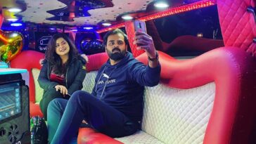 A Beautiful couple from  enjoying some moments in Swat Limousine while staying a